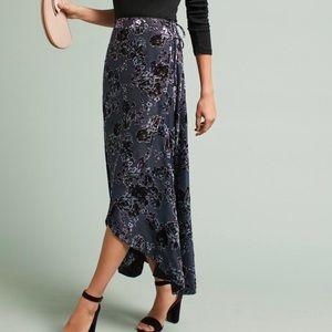 Anthropologie En Elly Velvet Wrap Skirt
